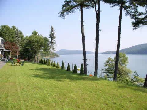 lawn overlooking otsego lake